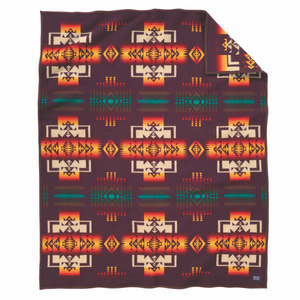 Pendleton Chief Joseph Blanket - Maroon - The Great Divide