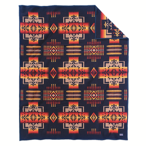 Pendleton Chief Joseph Blanket - Indigo - The Great Divide