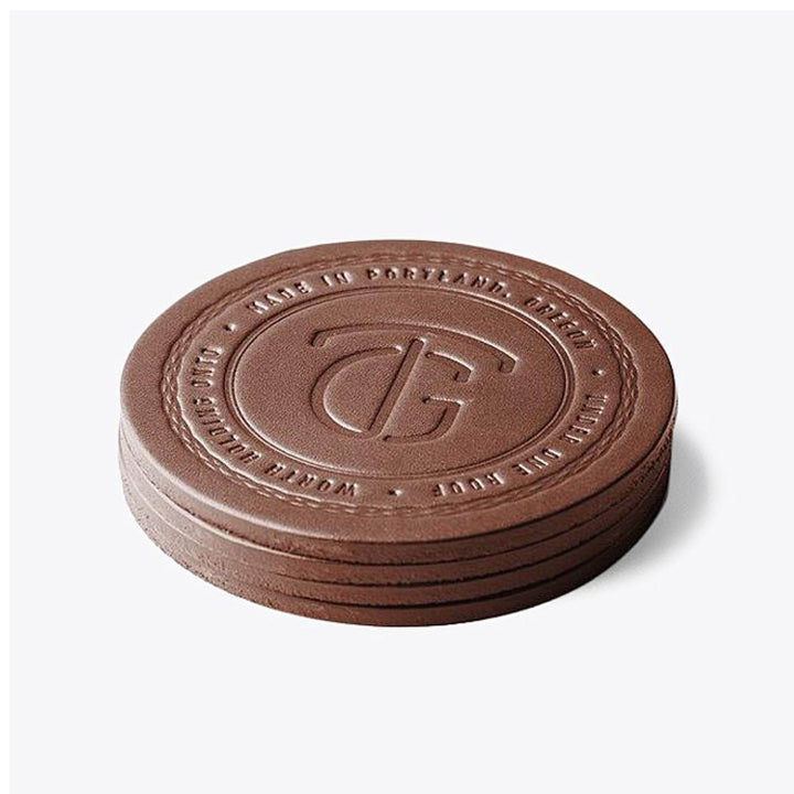 Coaster Set - Cognac