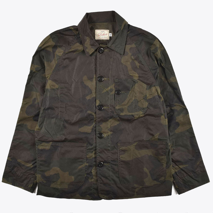 Waxed Canvas Chore Jacket - Camo