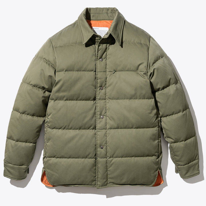 Down Shirts Jacket - Sage Green