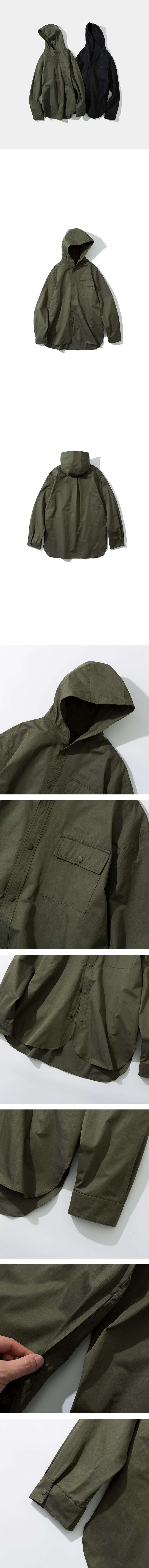 Hooded Shirt - Khaki
