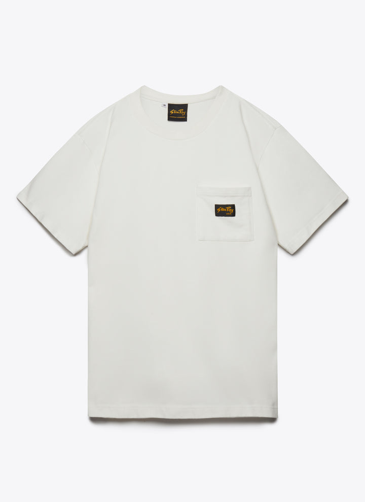 Patch Pocket Tee - Left White