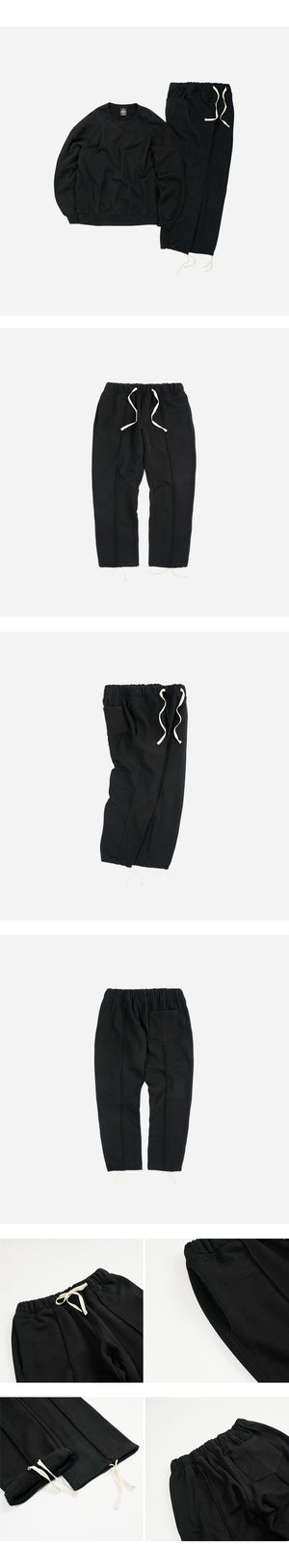 Piping Sweatpants - Black