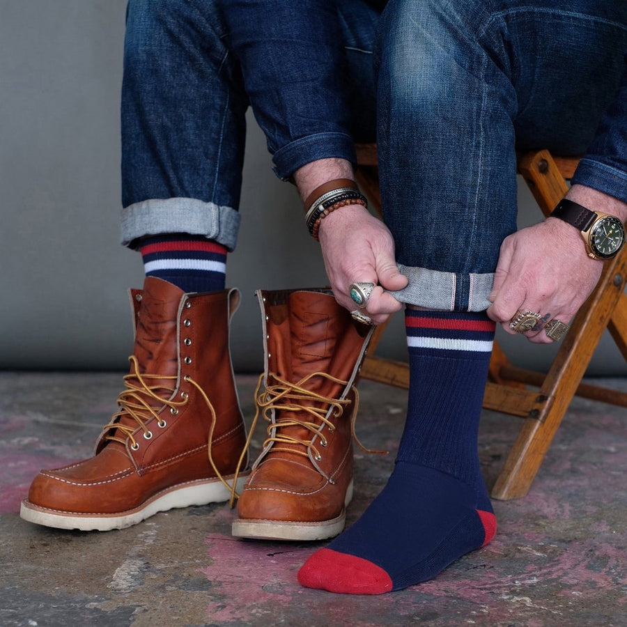 American Trench Kennedy Lux Athletic Socks - Navy - The Great Divide
