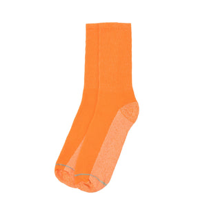 American Trench Silver Crew Socks - Orange - The Great Divide