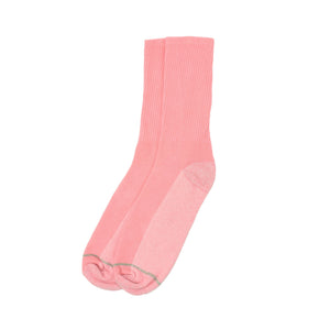 American Trench Silver Crew Socks - Pink - The Great Divide