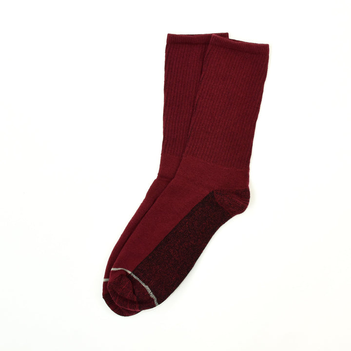 American Trench Silver Crew Socks - Wine - The Great Divide