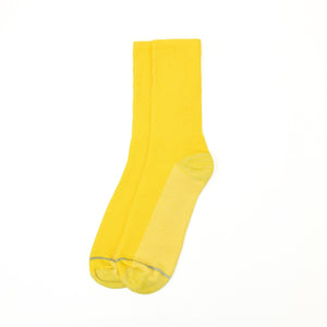 American Trench Silver Crew Socks - Yellow - The Great Divide