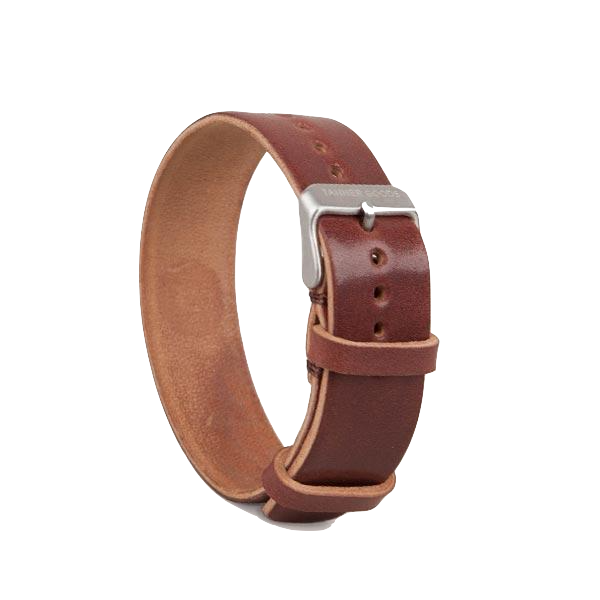 Single Pass Watch Strap - Burgundy Cordovan
