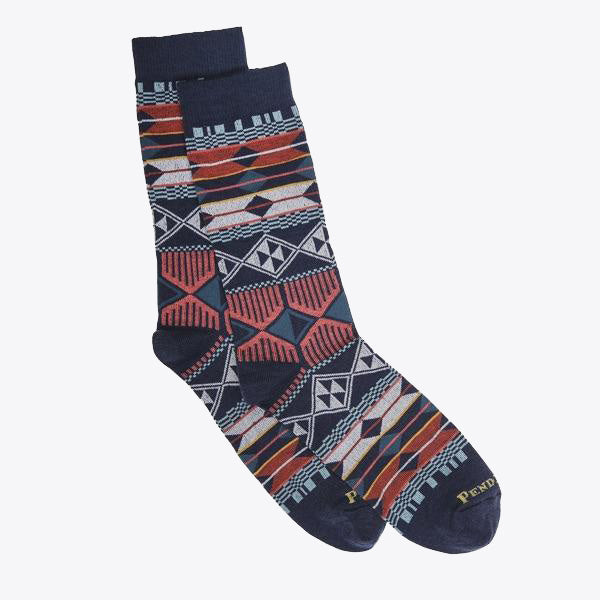 Southern Highlands Crew Sock - Navy