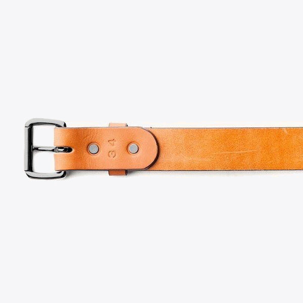 Standard Belt - Saddle Tan / Black