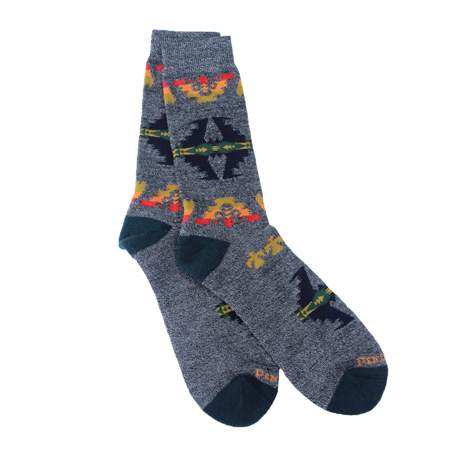 Tuscon Camp Crew Sock - Grey