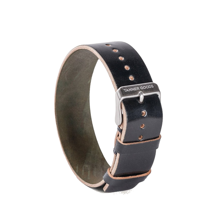 Single Pass Watch Strap - Black Cordovan