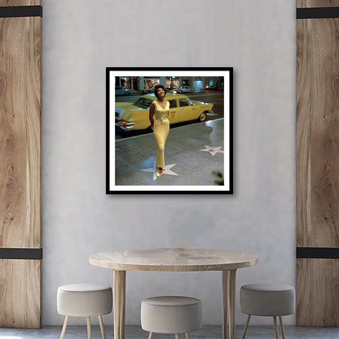 Nancy Wilson - Hollywood Boulevard 1963 Framed Fine Art
