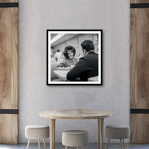 Wanda Jackson - At Dinner 1950's Framed Fine Art