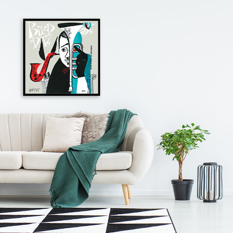 Machito Jazz with Flip & Bird Framed Canvas Art