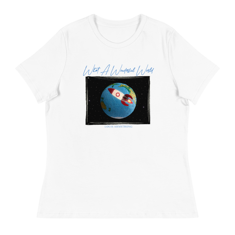 What A Wonderful World Globe T- Shirt (Ladies)