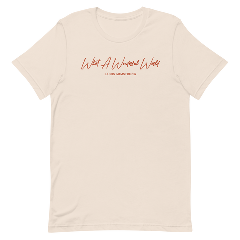 What A Wonderful World T-Shirt (Khaki)