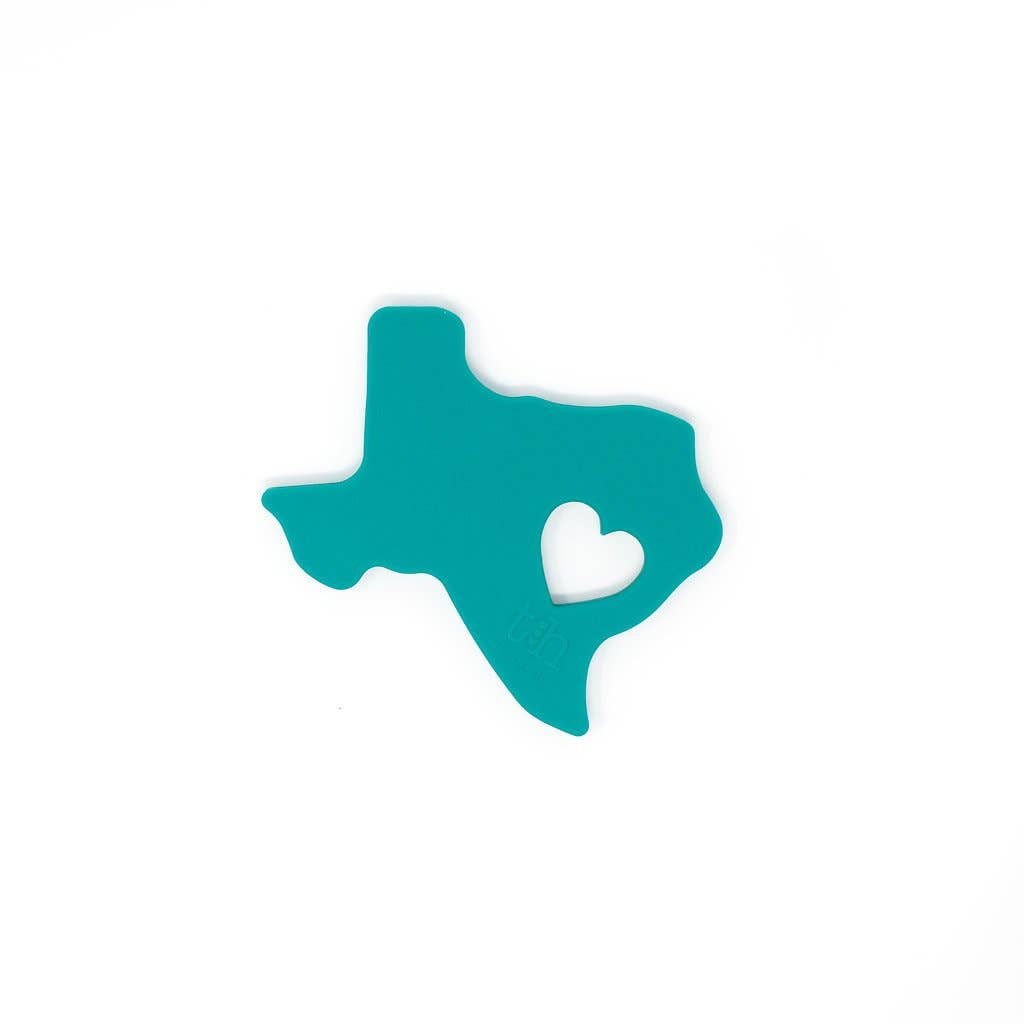 Texas Silicone Teether: Emerald