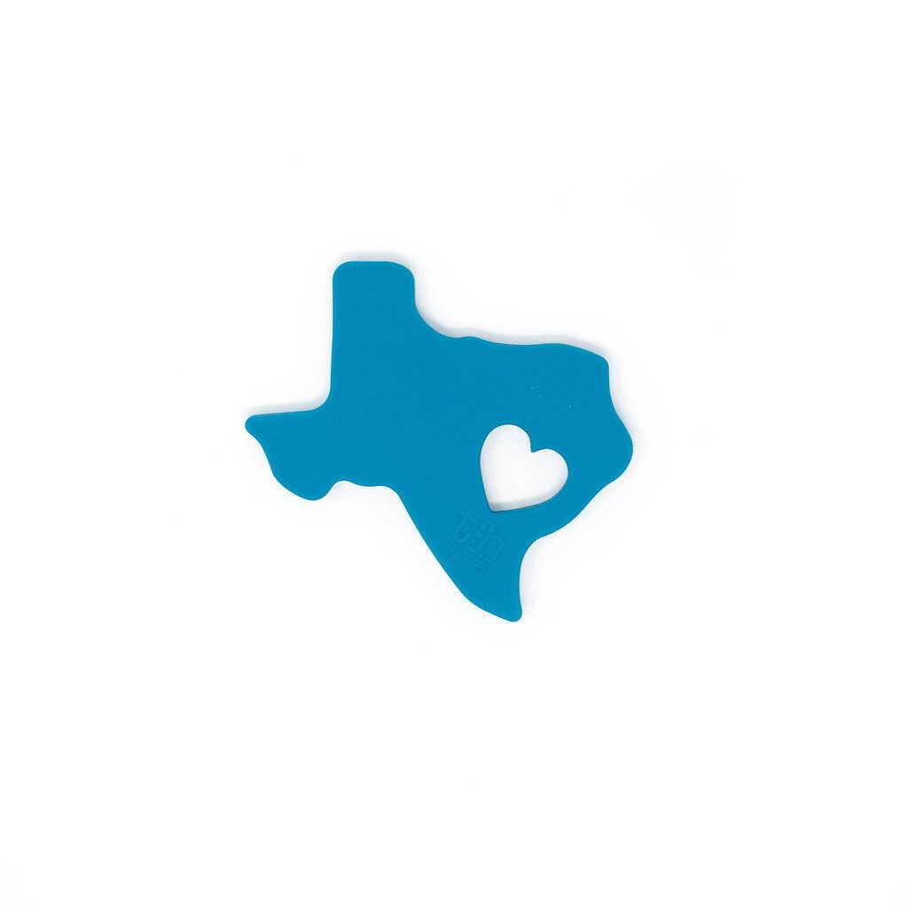 Texas Silicone Teether: Teal