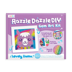 Razzle Dazzle D.IY. Gem Art Kit: Lovely Llama