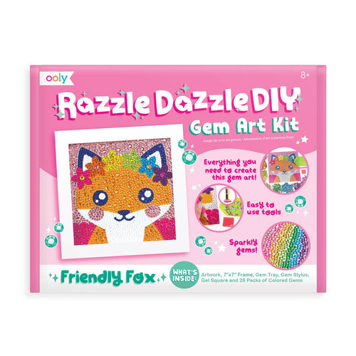 Razzle Dazzle D.IY. Gem Art Kit: Friendly Fox