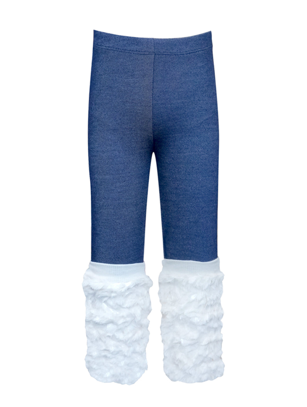 Jeggings with Faux Fur Leg Warmer