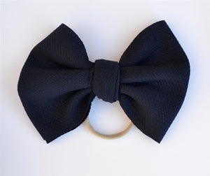 Navy Baby Bella Hair Bow