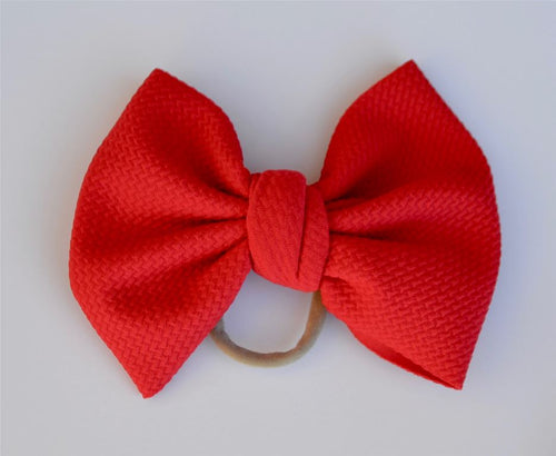 Red Baby Bella Hair Bow