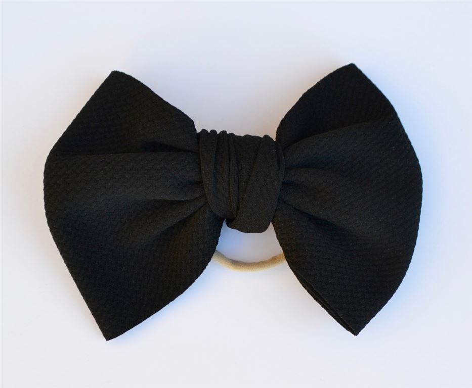 Black Baby Bella Hair Bow