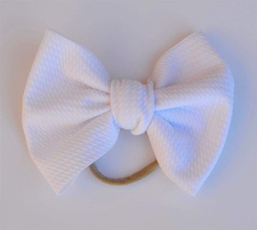 White Baby Bella Bow