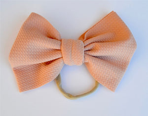 Peach Baby Bella Hair Bow