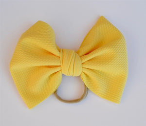 Yellow Baby Bella Hair Bow