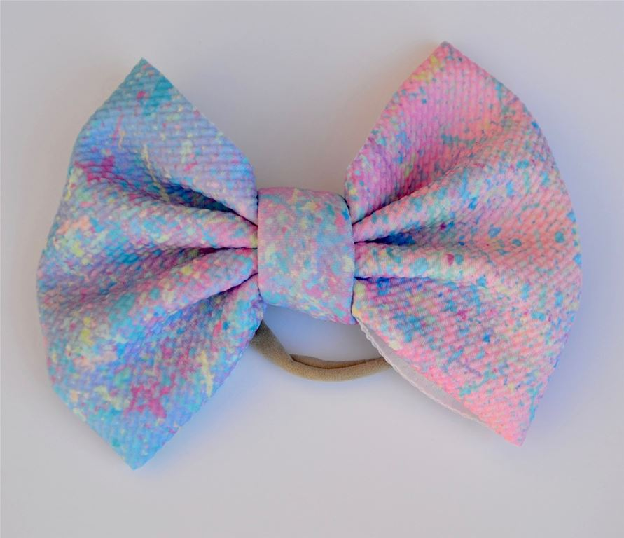 Watercolor Kaleidoscope Baby Bella Hair Bow