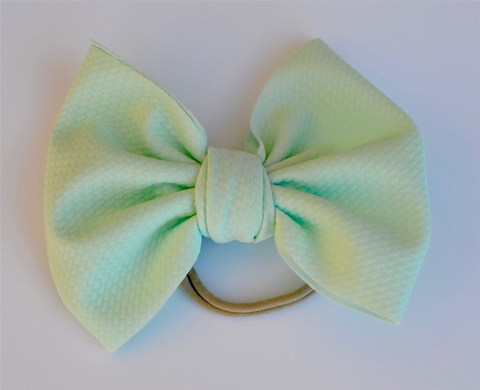 Mint Baby Bella Bow Hair Bow