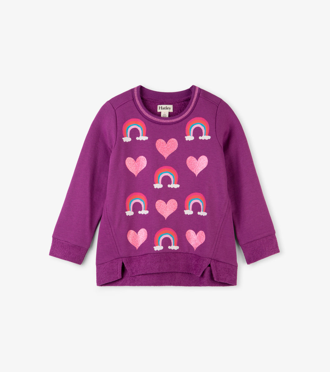 Hearts and Rainbows Long Sleeve Pullover