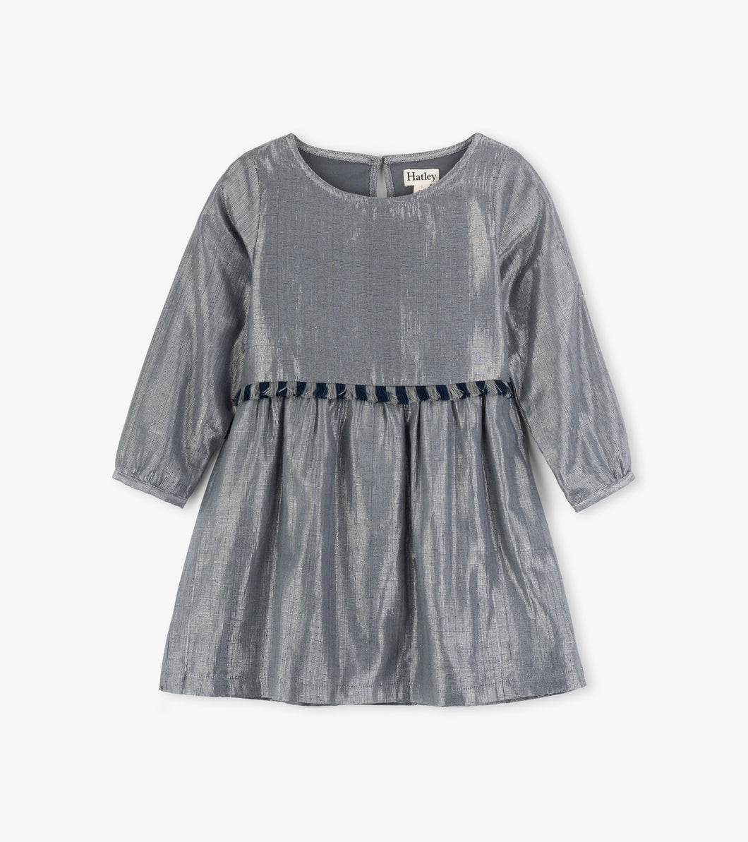 Metallic Silver Party Dress