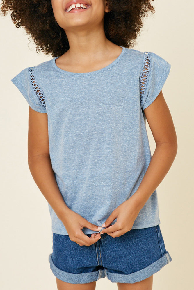 Heathered Jersey Top