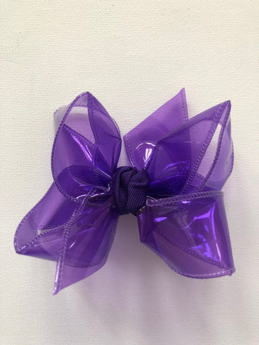 Purple Waterproof Hair Bow