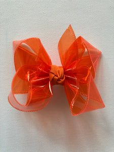 Orange Waterproof Hair Bow