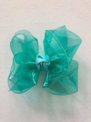 Aquamarine Waterproof Hair Bow