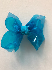 Turquoise Waterproof Hair Bow