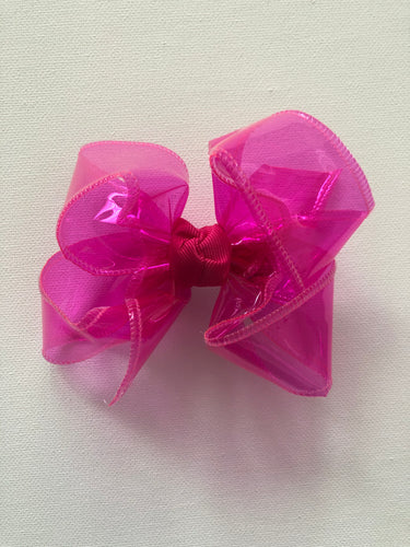 Fuchsia Waterproof Hair Bow