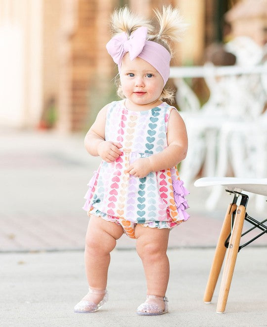 Rainbow Hearts Bubble Romper
