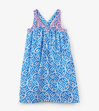 Load image into Gallery viewer, Blue Mandala Handkerchief Dress