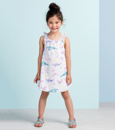 Watercolour Sea Friends Bow Back Dress