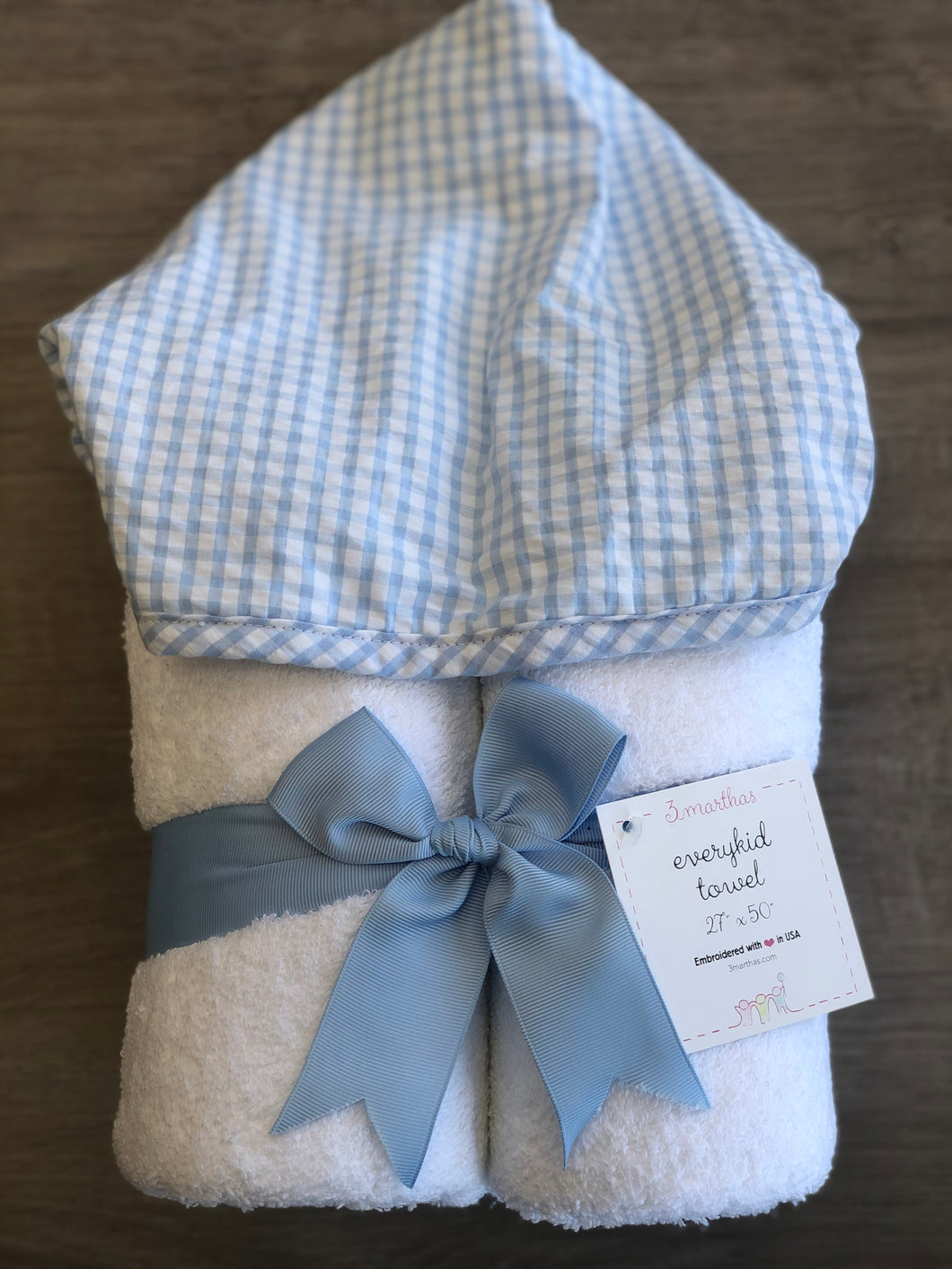 Blue Check Fabric Everyday Towel