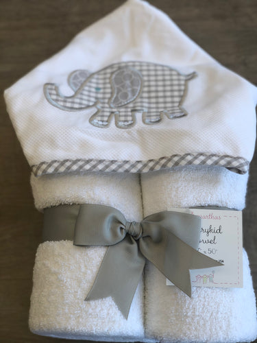 Gray Elephant Everyday Towel