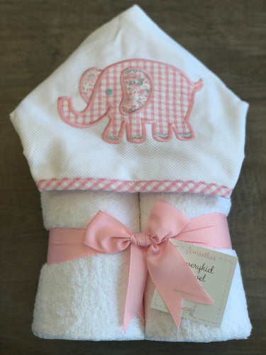 Pink Elephant Everyday Towel
